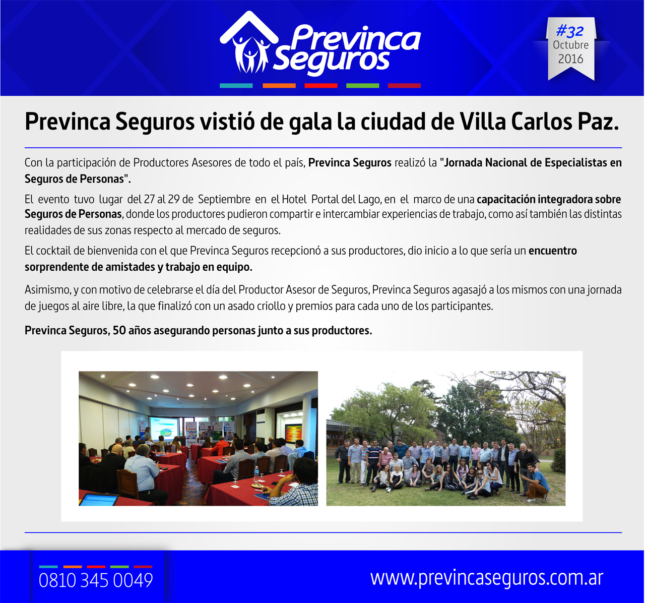 Previnca Seguros vistió de gala la ciudad de Villa Carlos Paz